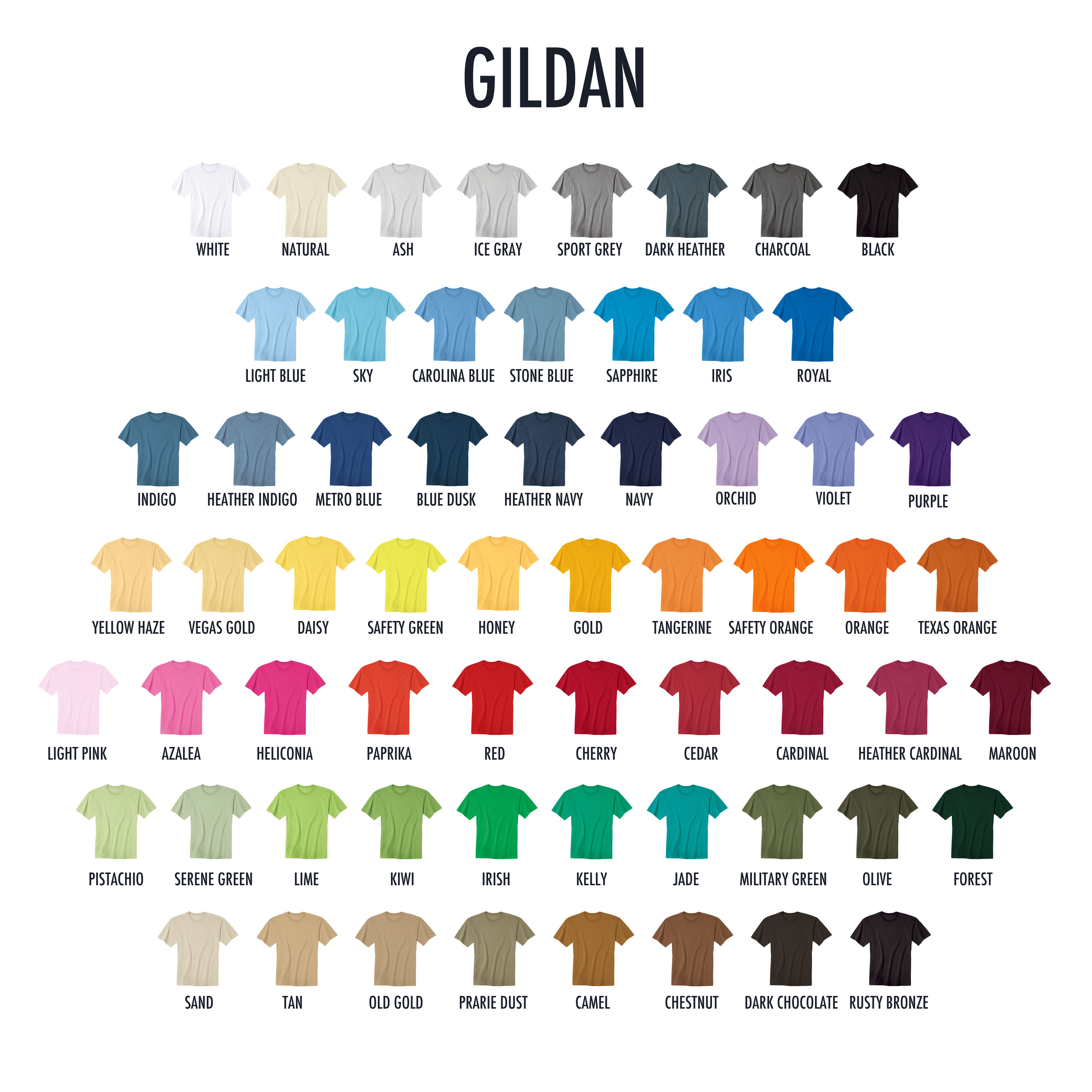 Garment colors t shirt screen printing embroidery and garment colors nvjuhfo Images