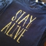 Custom screen printing design with gold glitter ink!