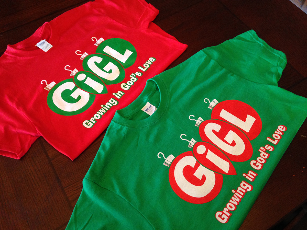 Gigl growing in god 39 s love tees t shirt screen printing for T shirt printing houston