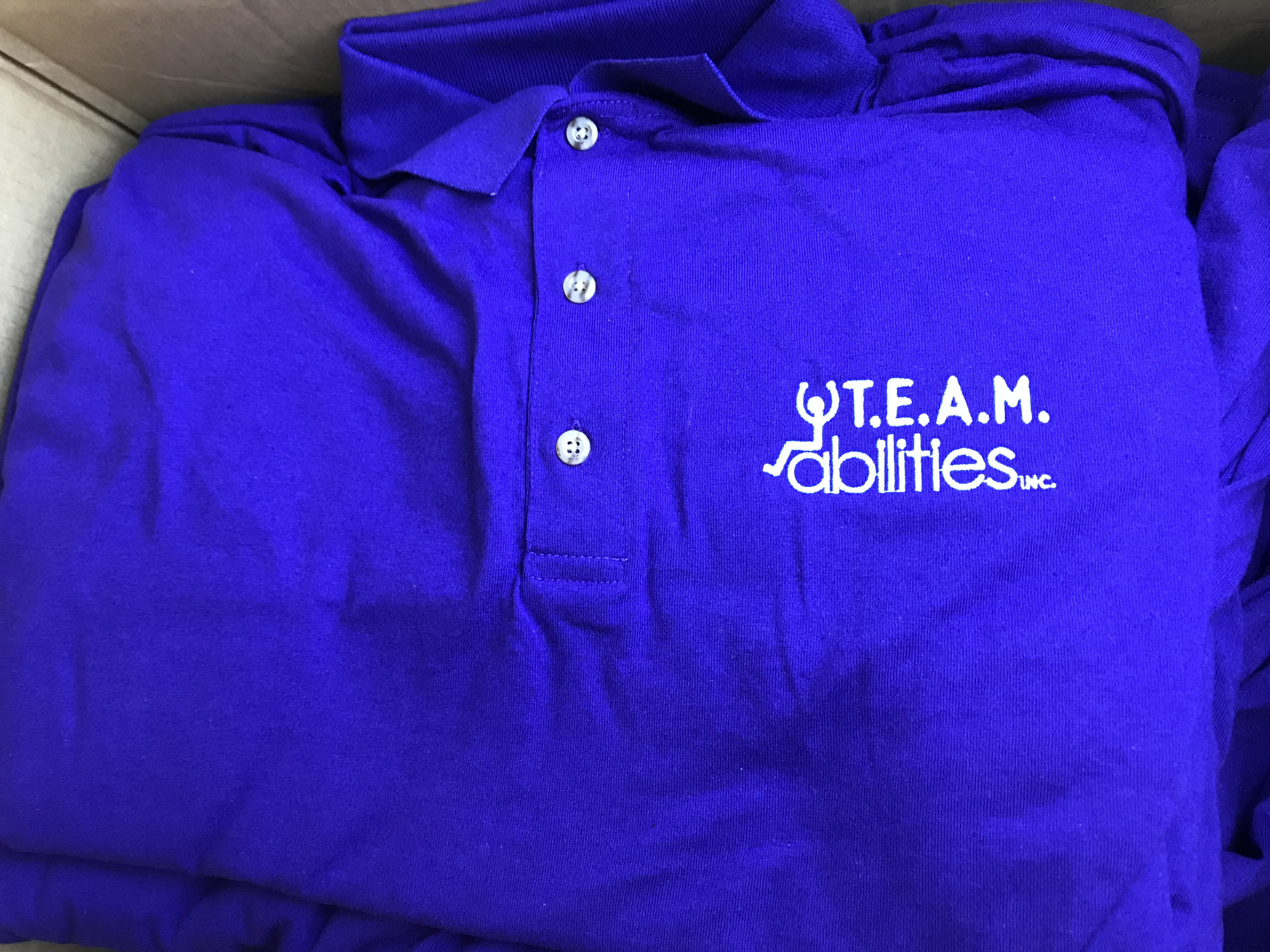 Embroidery Embroidered Polos for Team Abilities