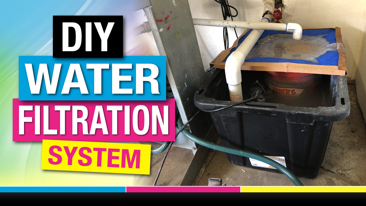 Screen Printing Water Filtration System Cheap Diy